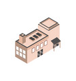 urban building isometric style icon vector image
