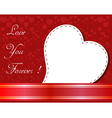 Valentines day paper heart card