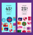 vertical sale banner templates with gift vector image vector image