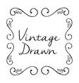Vintage draw design ornament icon sketch concept vector image vector image