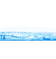 winter fields panorama landscape background vector image vector image