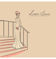 woman on staircase vector image vector image