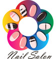 Manicure or nail salon logo vector image