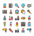 beauty and fashion colored icons set 1 vector image