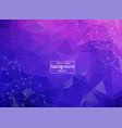 abstract low poly purple technology background vector image vector image