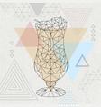 abstract polygonal tirangle cocktail pina colada vector image vector image
