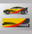 abstract racing graphic for sport car wrap design