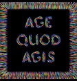 age quod agis vector image vector image