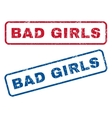 Bad Girls Rubber Stamps vector image vector image
