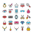 beauty and fashion colored icons set 2 vector image