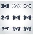 black bow ties icon set vector image vector image