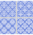 Blue seamless ethnic pattern collection vector image vector image