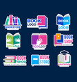 book logo publishing business identity symbols vector image vector image