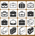 briefcase icons set vector image vector image