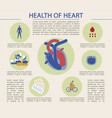 bright banner written health heart infographic vector image vector image