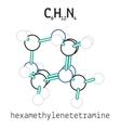 C6H12N4 hexamethylenetetramine molecule vector image vector image