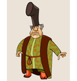 cartoon fairy man merchant vector image vector image