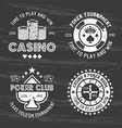 casino and poker room set gambling vector image