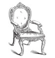 chair vintage vector image vector image