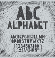 chalk hand draw doodle abc alphabet grunge vector image vector image