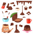 chocolate cartoon cocoa choco sweet food vector image vector image
