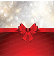 Christmas bow background vector image vector image