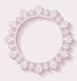 Christmas ornate frame vector image