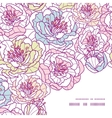 colorful line art flowers frame corner pattern vector image