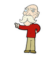 comic cartoon annoyed old man pointing vector image vector image
