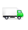 Commercial delivery cargo truck vector image vector image