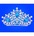 crown tiara women with glittering vector image vector image