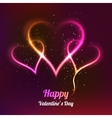 Dark background with 3 glowing hearts for my vector image vector image