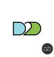 door to abbreviation logo linear style vector image vector image