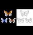 embroidery butterfly design vector image vector image