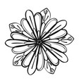 exotic tropical flower icon simple style vector image