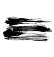 expressive horizontal textured black ink stain vector image vector image