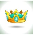 Fancy cartoon golden crown