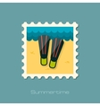 Flippers flat stamp vector image vector image