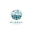 global connection logo design symbol vector image