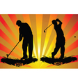 golf silhouette vector image vector image