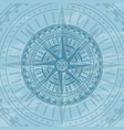 grunge background with antique wind rose vector image vector image