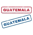 Guatemala Rubber Stamps vector image vector image