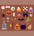 halloween carnival symbols icons vector image vector image