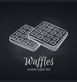 hand drawn belgian waffles vector image vector image