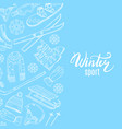 hand drawn contoured winter sports vector image