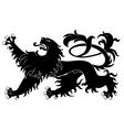 heraldic lion vector image vector image