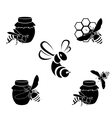 Honey icons vector image