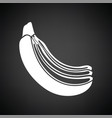 icon of banana vector image