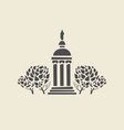 icon of parks old gazebo with columns vector image vector image