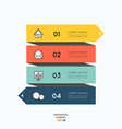 infographic elements with business icons on white vector image vector image